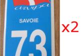 Lot de 2 Autocollants Savoie 73