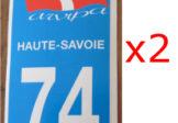 Lot de 2 Autocollants Savoie 74