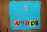 Tee Shirt Bleu Manches Courtes – A'rvi Pa Color