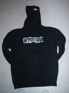 sweat shirt noir coton polyester arvipa argent savoie